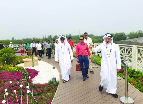 Qatar's pavilion at Beijing exhibition welcomes special needs delegation