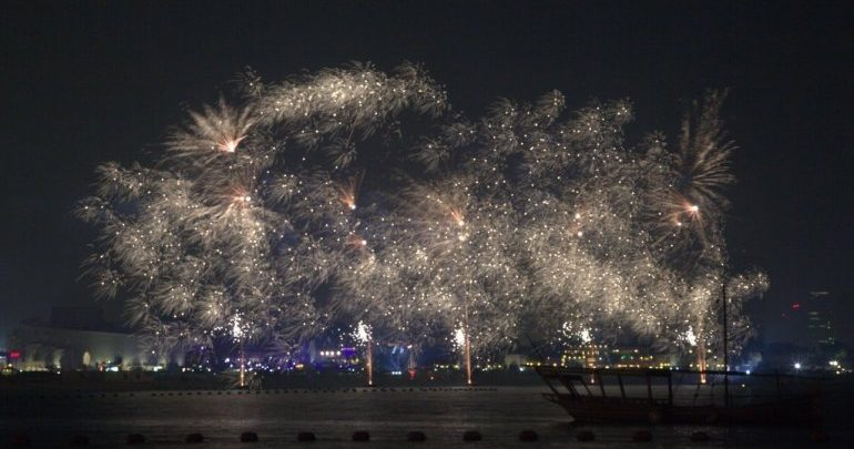 Gifts, fireworks and stage play at Katara for Eid
