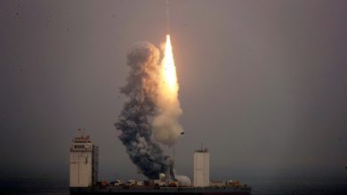 Photo of China launches a space rocket from a ship for the first time
