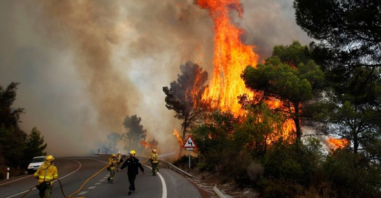 A heat wave ignites forest fires in Spain and warnings in European capitals