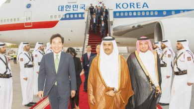 Korean PM arrives in Doha