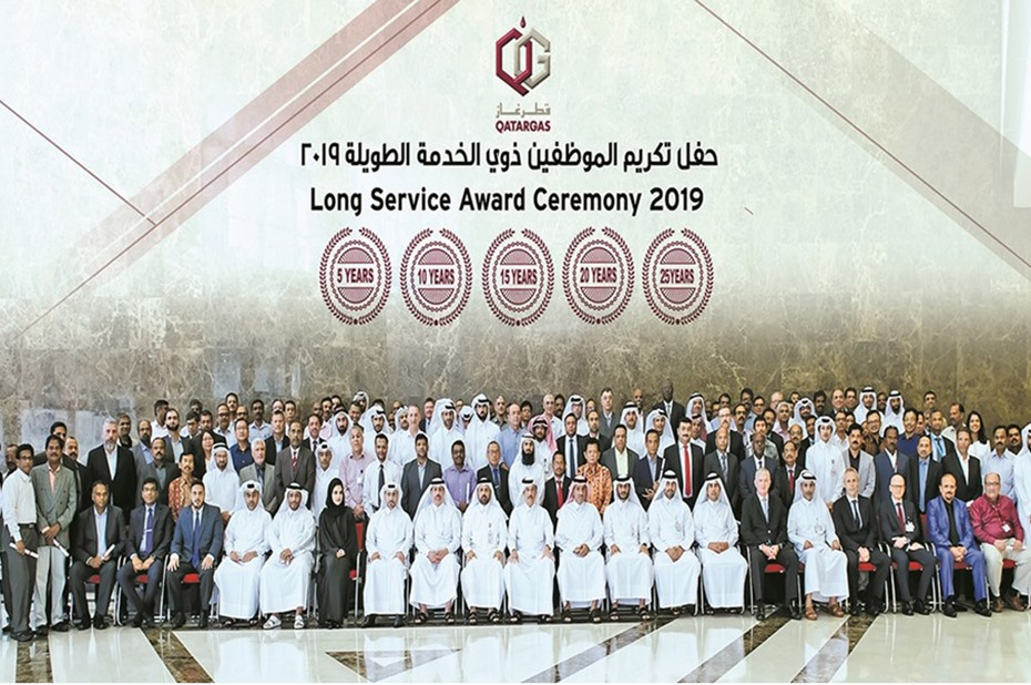 Qatargas honours more than 1,200 long-serving employees