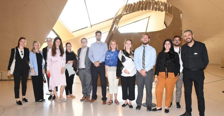 UN delegation tours Islamic Cultural Center, NMoQ, DICID