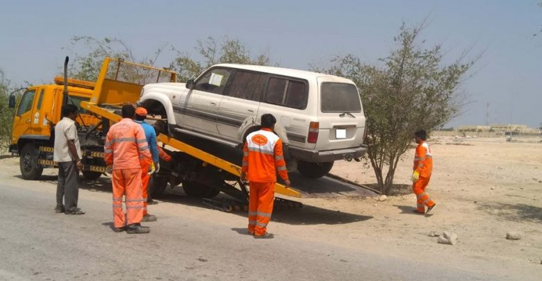 Abandoned vehicles removed from Shamal