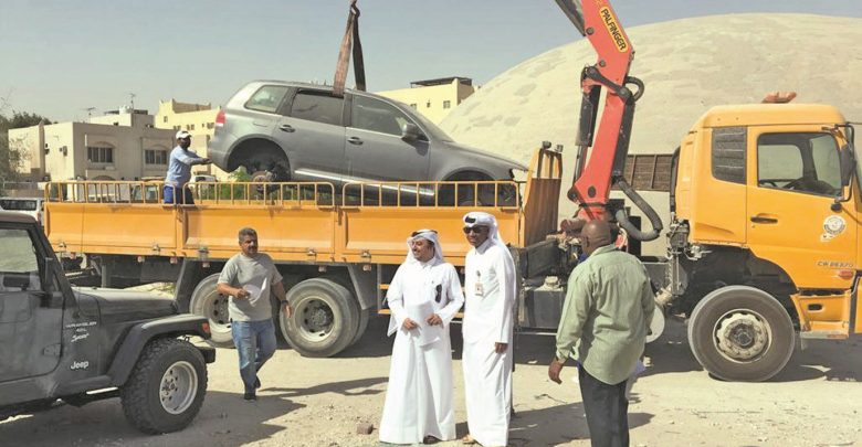 50 vehicles removed at old airport area in first days of campaign to remove abandoned vehicles