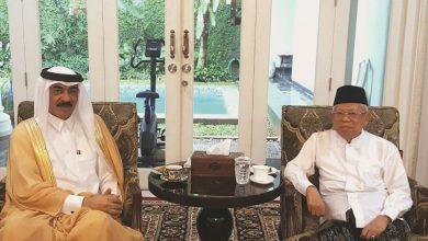 Vice-President-elect of Indonesia meets Qatari Ambassador