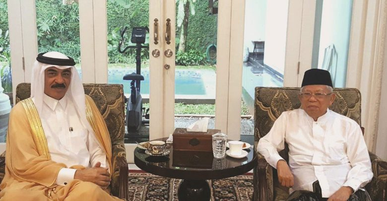 Vice-President-elect of Indonesia meets Qatari Ambassador