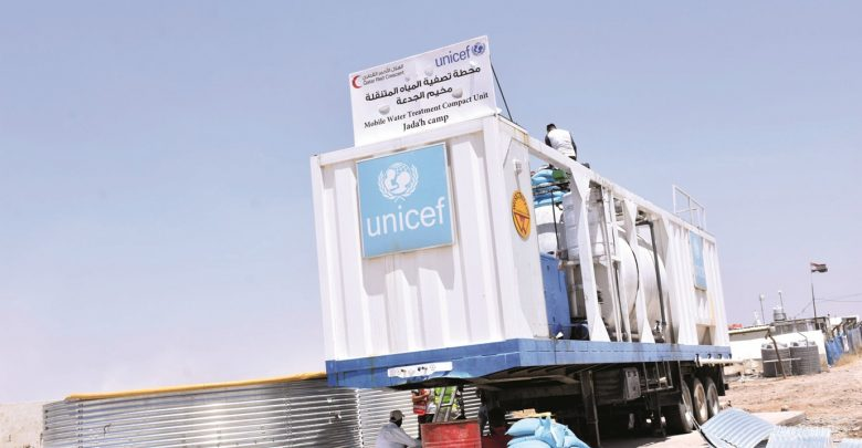QRCS offers water, sanitation services to displaced in Iraq