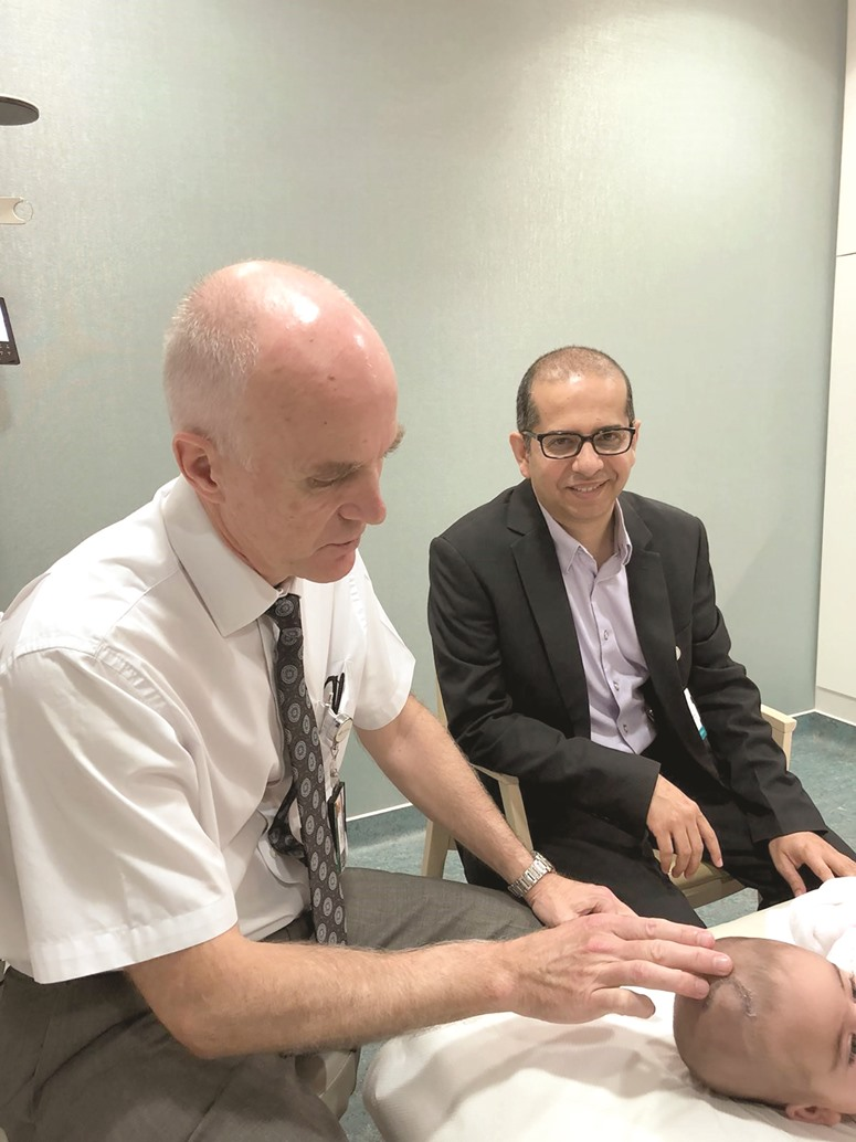 Sidra Medicine conducts keyhole brain surgery on baby