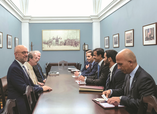 Amir meets members of US House committees on intelligence and foreign affairs