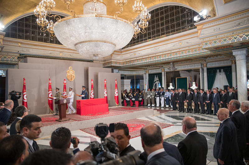 Amir attends funeral of late Tunisian President