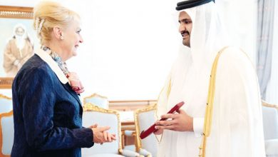 Deputy Amir meets outgoing Swedish Ambassador