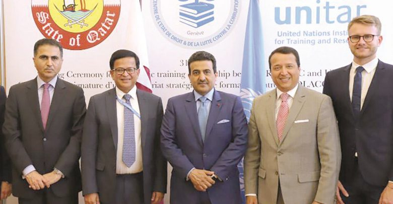 Attorney-General signs a pact with UNITAR