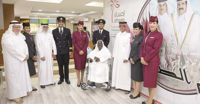 Qatar Airways surprises elderly residents of Ehsan
