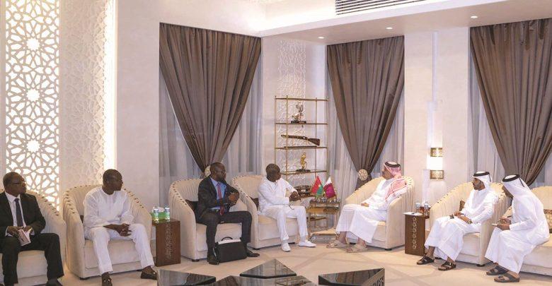 Al Attiyah meets Burkina Faso's Minister