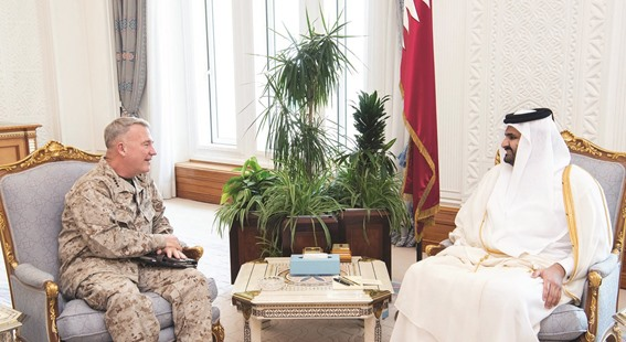 Deputy Amir meets Commander of US Central Command