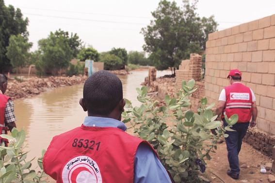 QRCS responds to flash floods in Sudan