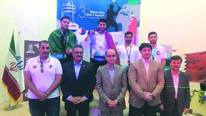 Qatar wins three medals in West Asian Squash Championship in Iran