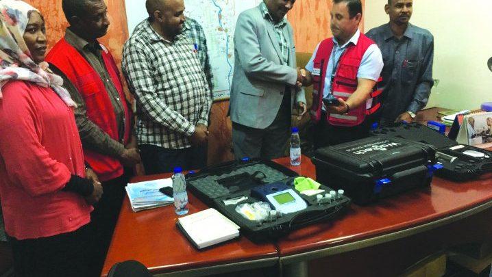 QRCS provides water testing kits for flood-stricken White Nile State