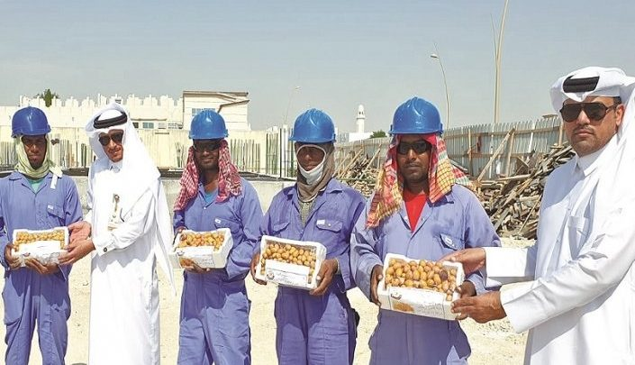 Dates distributed to workers at Al Khor Municipality