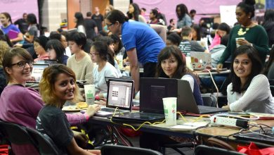 Photo of Arab girls invited to compete in digital Hackathon