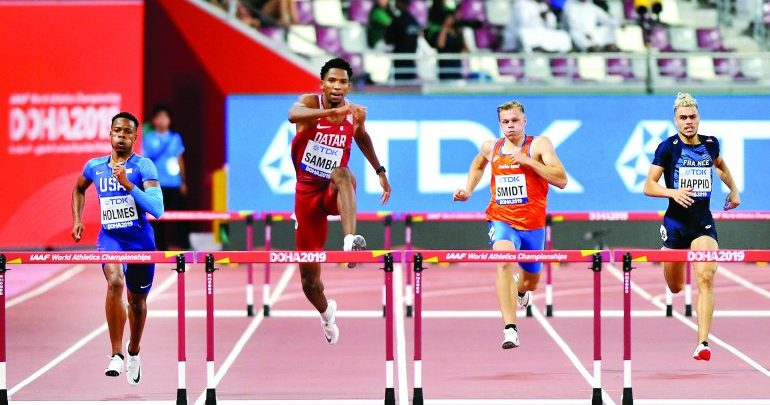 Samba off to a flying start on historic day for Qatar