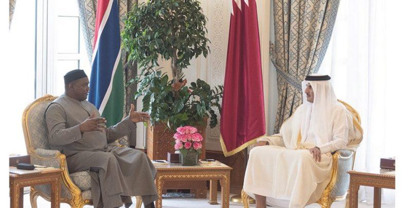 Amir, Gambia President review bilateral ties