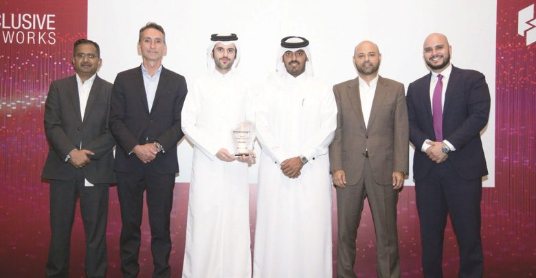 Ooredoo wins 'Fortinet's Best Managed Security Services Partner of the Year' award