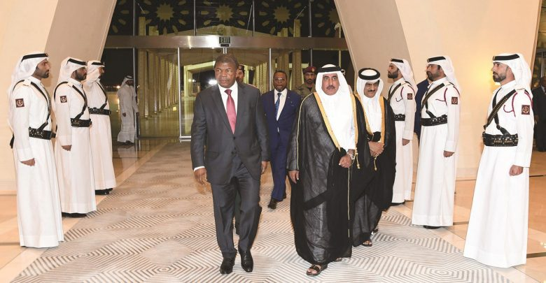 President of Angola arrives in Doha