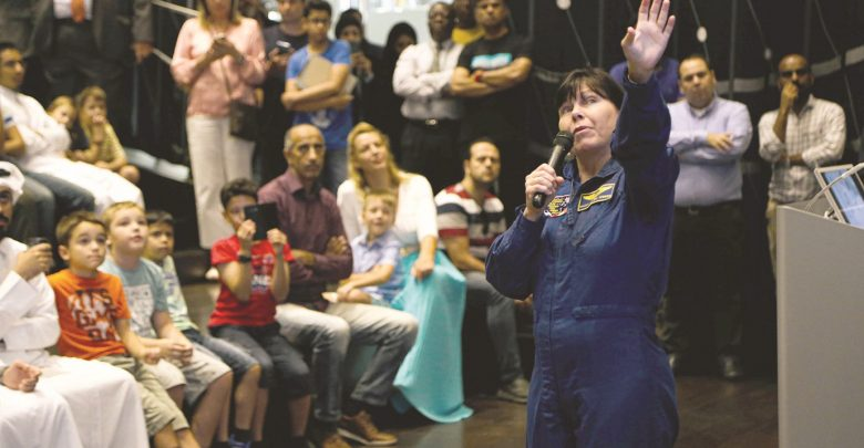 Astronaut gives audience a glimpse of space at QNL event