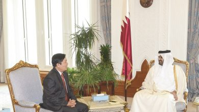 Photo of Deputy Amir receives seven new Ambassadors