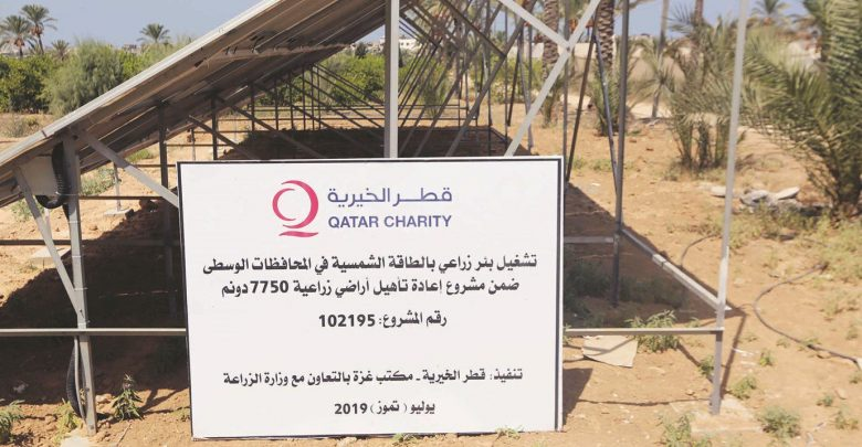 Qatar Charity's solar-powered wells bring new life to drought-hit lands in Gaza