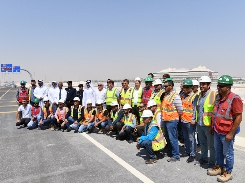 Ashghal opens Al Noof and Tinbak interchanges in Al-Khor Road