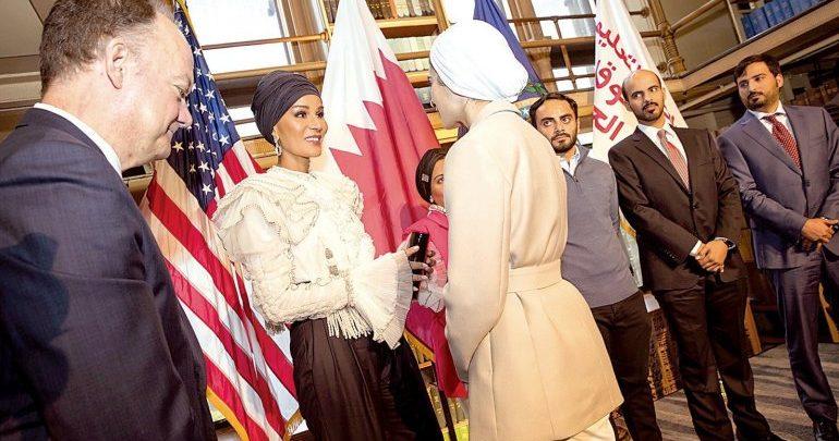 Sheikha Moza participates in Georgetown University seminar in Washington, DC