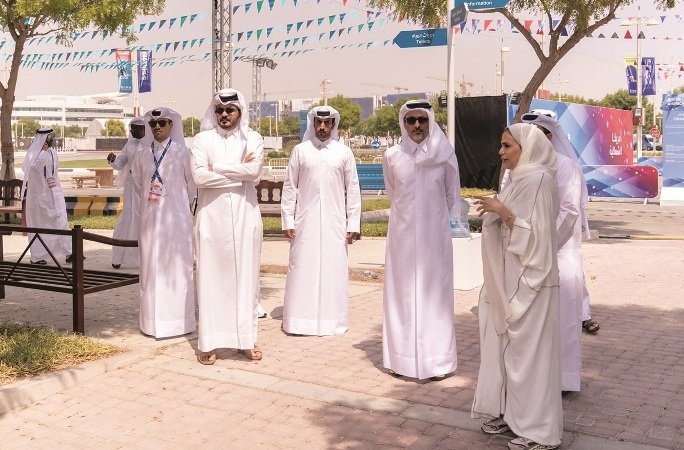 Doha 2019: ministers visit Khalifa International Stadium