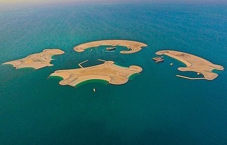 The 4 artificial islands in Qatar