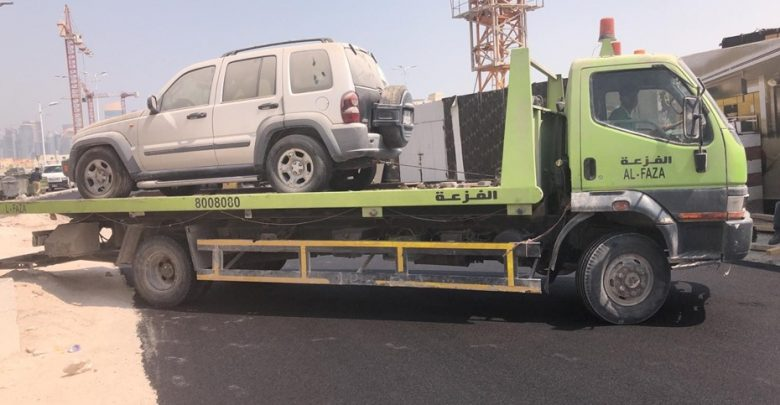 Doha Municipality removes 90 abandoned vehicles