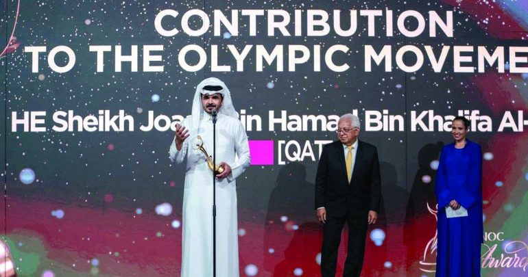 Sheikh Joaan recognised for contribution to the Olympic Movement