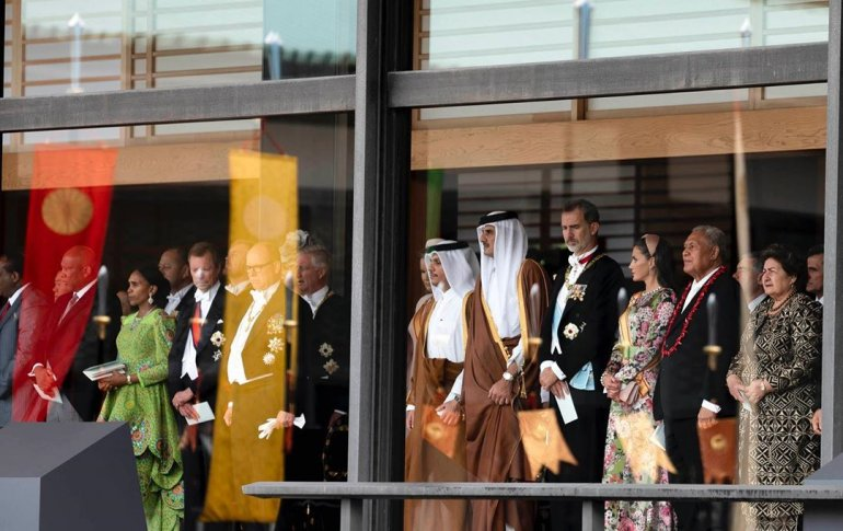 Amir attends the enthronement ceremony of Japan Emperor