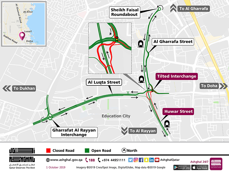 Ashghal to open Tilted Intersection to traffic on Friday
