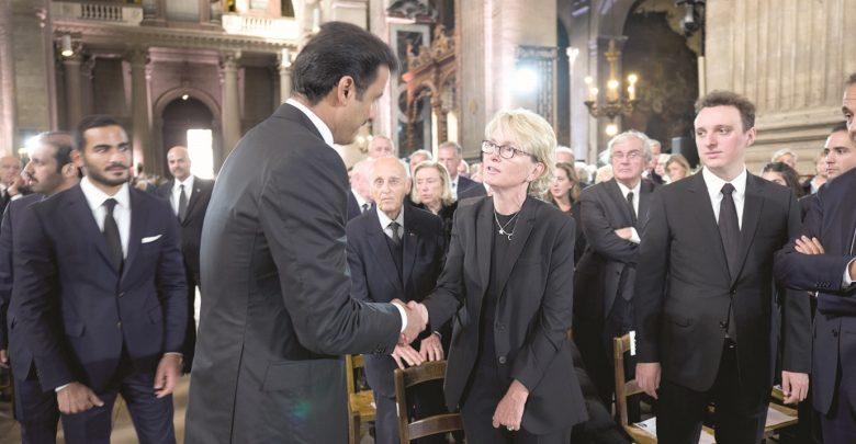 Amir attends funeral of ex-French president