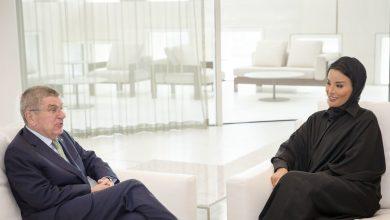 Sheikha Moza meets IOC president