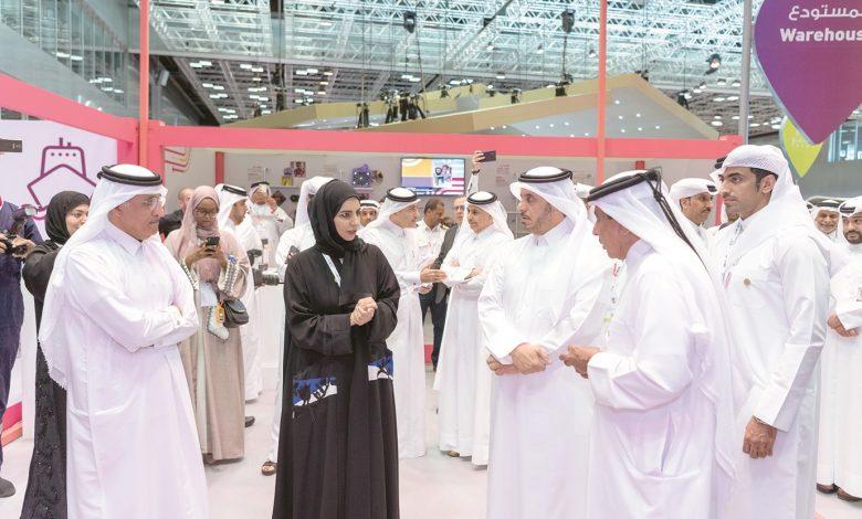 Prime Minister touring Qatar IT Exhibition (QITCOM 2019)