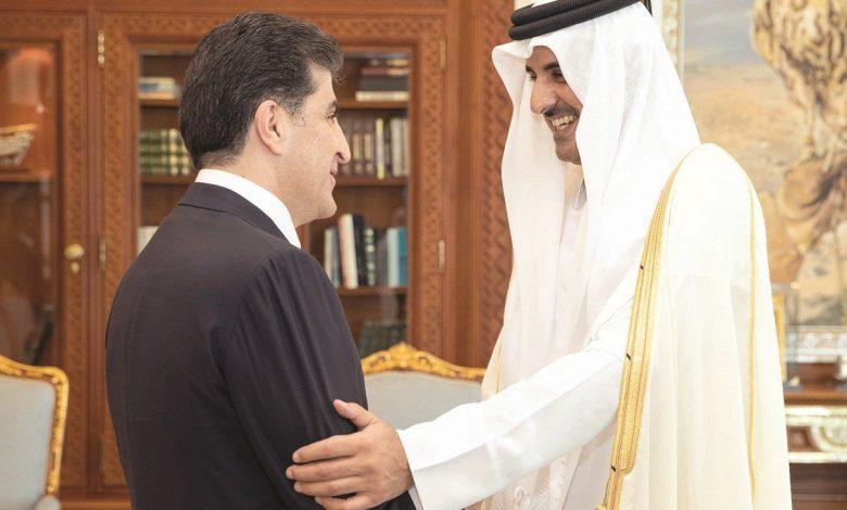 Amir meets president of Kurdistan region of Iraq