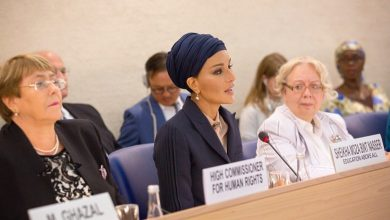 Photo of Sheikha Moza participates in Social Forum of Human Rights Council at UN