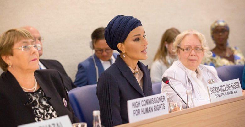Sheikha Moza participates in Social Forum of Human Rights Council at UN