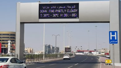 Weather is displayed on embedded electronic boards on main roads and highways