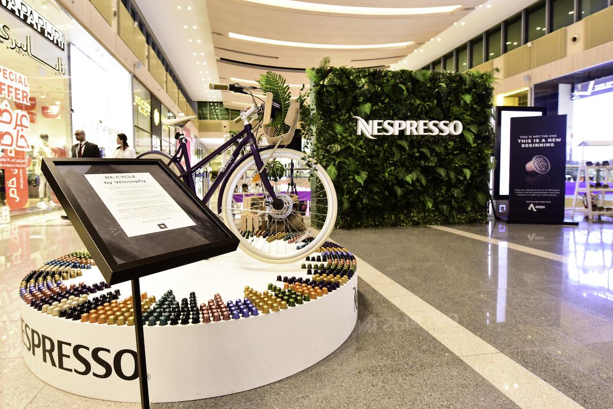 """نسبريسو تقدم دراجات هوائية مصنوعة من كبسولات قهوة"""" مُعاد تدويرها"""