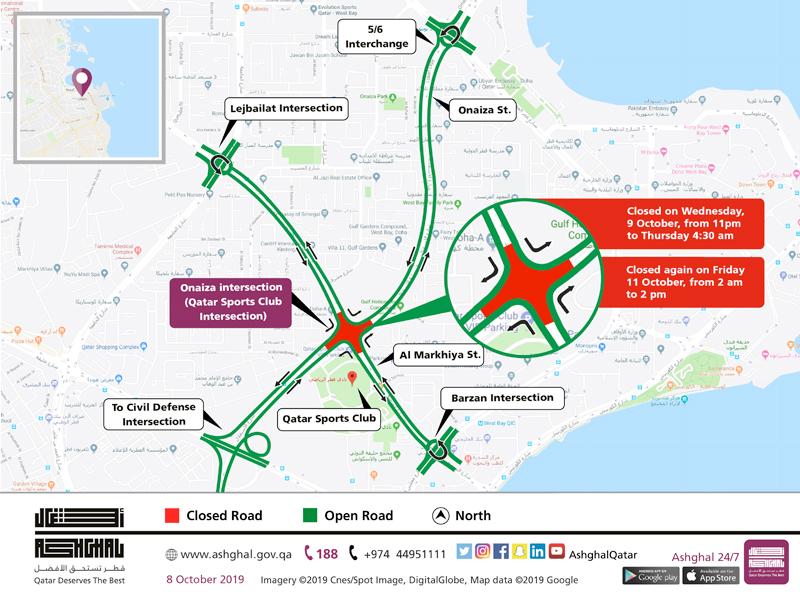 Temporary Closure of Onaiza Intersection