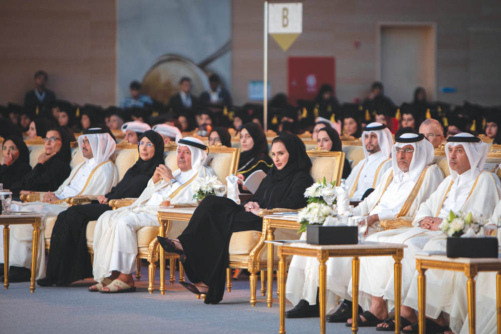 Sheikha Jawaher honours QU female graduates